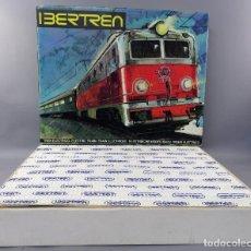 Trenes Escala: CAJA IBERTREN 141 3N LOCOMOTORA ALSTHOM 4 VAGONES TRANSFORMADOR VÍAS CATÁLOGO INSTRUCCIONES. Lote 269233338