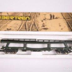 Trenes Escala: VAGON DE MERCANCIAS PORTA COCHES 4 EJES REF. 3631 - IBERTREN ESCALA N - CAJA ORIGINAL. Lote 269598313