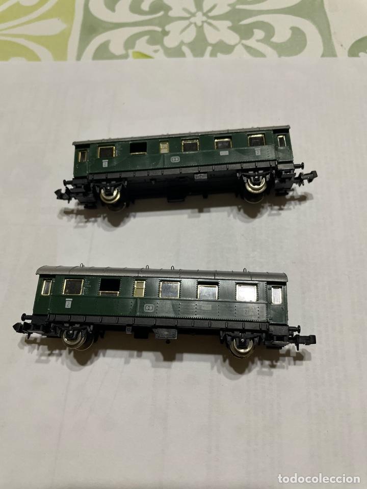 2 VAGONES DE PASAJEROS DE LA DB DE IBERTREN ESCALA N (Juguetes - Trenes a escala N - Ibertren N)