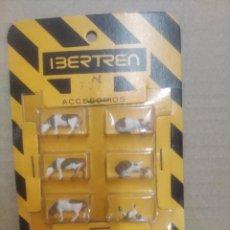 Trenes Escala: IBERTREN N BLISTER 6 ANIMALES,VACAS, NUEVA.. Lote 277441648