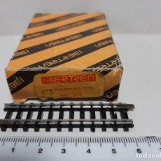 Trenes Escala: IBERTREN 12 RECTAS 60 MM REF. 613 ESCALA N, NUEVAS A ESTRENAR. Lote 278508128