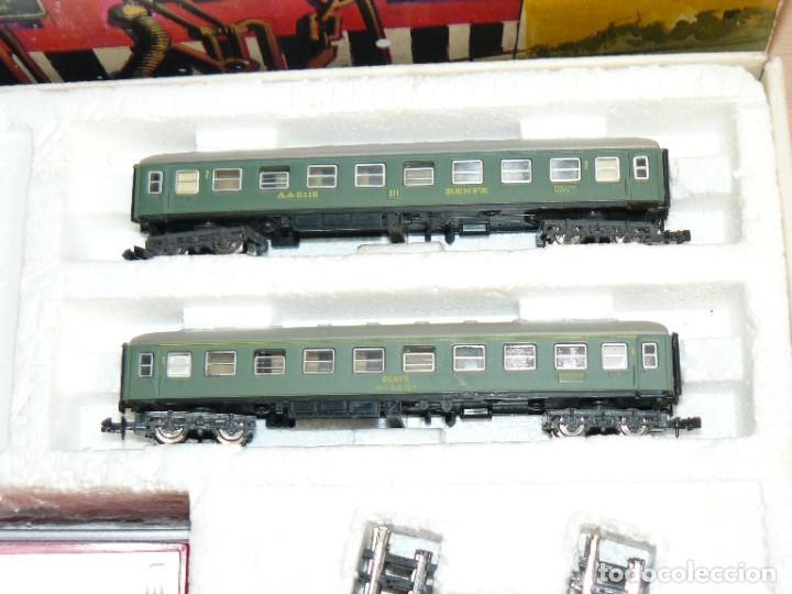 Trenes Escala: IBERTREN Caja con SET 112 3N Locomotora Diesel ALCO RENFE + 2 Vagones + 1 Furgón +8 VIAS EXTRAS - Foto 4 - 288096928