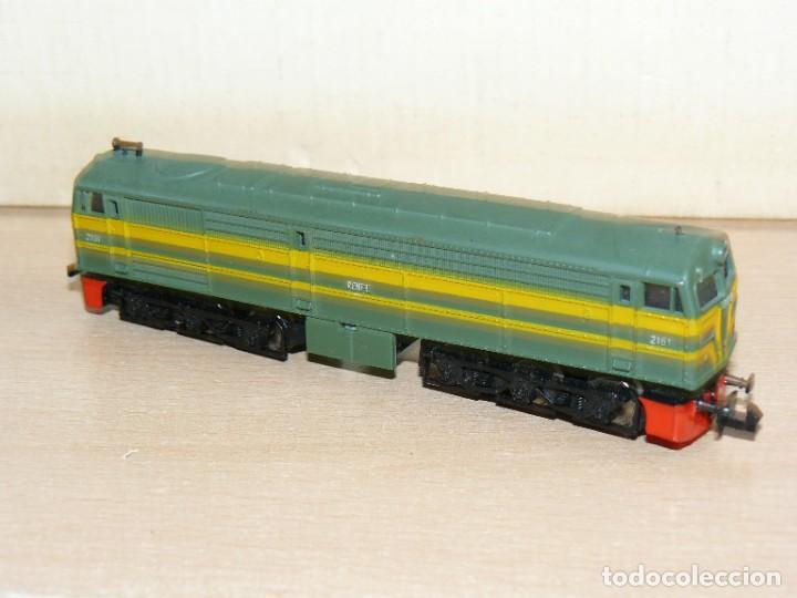 Trenes Escala: IBERTREN Caja con SET 112 3N Locomotora Diesel ALCO RENFE + 2 Vagones + 1 Furgón +8 VIAS EXTRAS - Foto 5 - 288096928