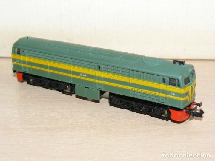 Trenes Escala: IBERTREN Caja con SET 112 3N Locomotora Diesel ALCO RENFE + 2 Vagones + 1 Furgón +8 VIAS EXTRAS - Foto 6 - 288096928