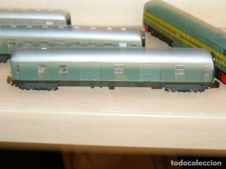 Trenes Escala: IBERTREN Caja con SET 112 3N Locomotora Diesel ALCO RENFE + 2 Vagones + 1 Furgón +8 VIAS EXTRAS - Foto 8 - 288096928