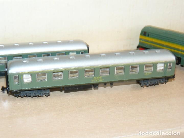 Trenes Escala: IBERTREN Caja con SET 112 3N Locomotora Diesel ALCO RENFE + 2 Vagones + 1 Furgón +8 VIAS EXTRAS - Foto 9 - 288096928