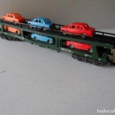 Trenes Escala: VAGON PORTACOCHES IBERTREN CON COCHES ESCALA N. Lote 288983083