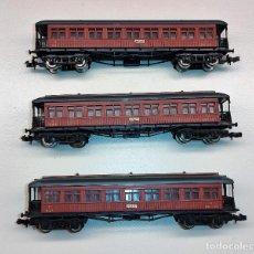 Trenes Escala: 3 VAGONES DE IBERTREN 4 EJES MATARO MZA REF: 222 EN MUY BUEN ESTADO. Lote 289430158