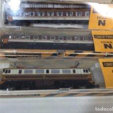 Trenes Escala: IBERTREN LOTE LOCOMOTORA Y 2 VAGONES 2N. Lote 289914773