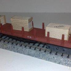 Trenes Escala: IBERTREN N TELERO MARRÓN CON CAJAS -- L50-251 (CON COMPRA DE 5 LOTES O MAS, ENVÍO GRATIS). Lote 290096938