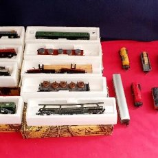 Trenes Escala: LOTE 1 LOCOMOTORA Y VAGONES IBERTREN TAL CUAL COMO SE VE EN FOTOS. Lote 293613823