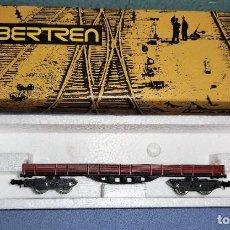 Trenes Escala: VAGON BORDE BAJO DE IBERTREN CON SU CAJA ORIGINAL REF : 391 EN MUY BUEN ESTADO. Lote 295413573