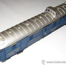 Trenes Escala: ANTIGUO Y BONITO COCHE FURGON DE EQUIPAJES 25140 DE LIMA - COLOR AZUL OSCURO - HO 1/86 2 CARRILES - . Lote 11533476