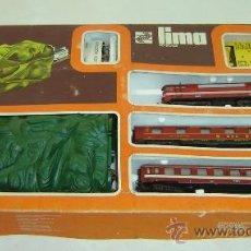 Trenes Escala: TREN MARCA LIMA-HO SCALE-CON TUNEL-MADE IN ITALY-JUGADO MEDIDA CAJA 60*34*6 CMS.. Lote 32155131