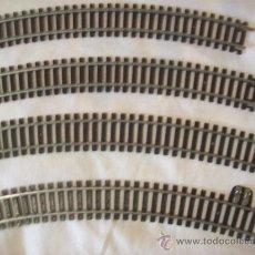 Trenes Escala: 4 TRAMOS DE CURVAS INCLUYENDO LA DE ALIMENTACIÓN. Lote 30159688