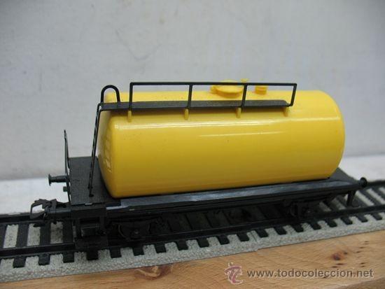Trenes Escala: LIMA VAGON CISTERNA AMARILLO,ESCALA H0- - Foto 3 - 38498953