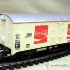 Trenes Escala: TREN ESCALA H0, VAGON DE CARGA, COCA COLA, LIMA, ITALIA, DB . Lote 39633588