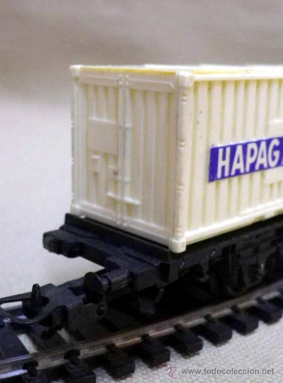 Trenes Escala: TREN ESCALA H0, VAGON DE CARGA, CONTENEDORES HAPAG-LLOYD Y LEP, LIMA, ITALIA, DB - Foto 4 - 236114800