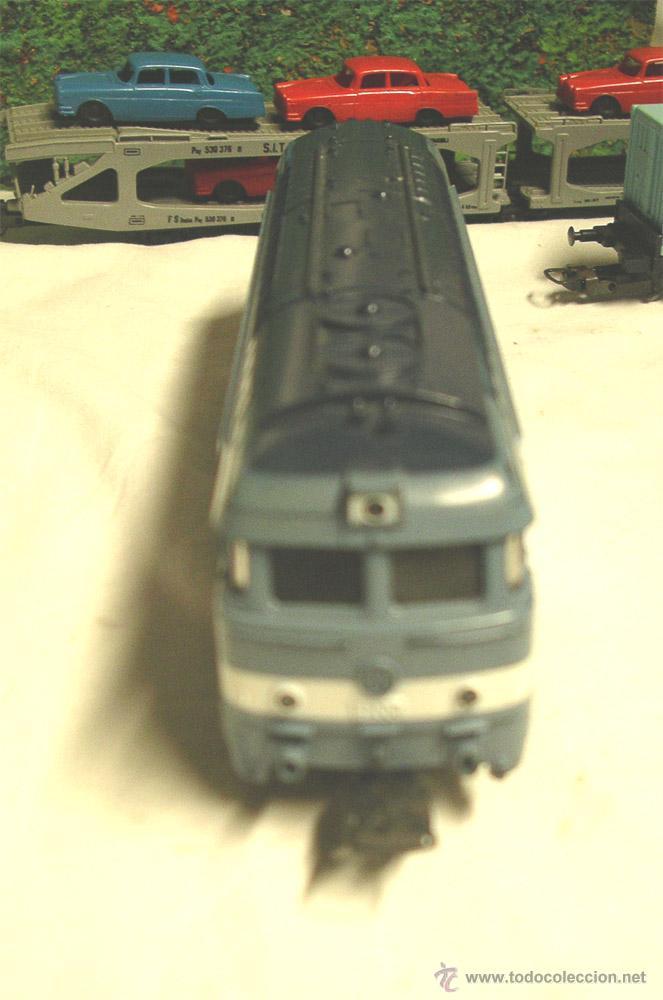 Trenes Escala: Lote Tren Lima Máquina SNCF 62001, 2 Vagones mercancías coches y contenedores y Túnel, escala H0 - Foto 3 - 45702312