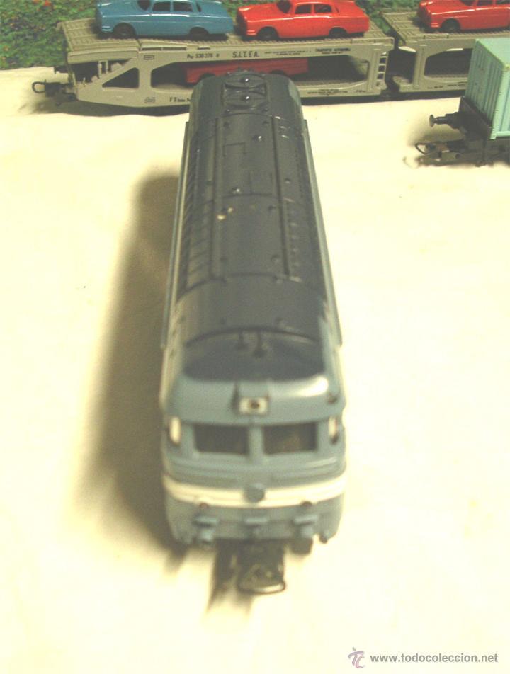 Trenes Escala: Lote Tren Lima Máquina SNCF 62001, 2 Vagones mercancías coches y contenedores y Túnel, escala H0 - Foto 5 - 45702312
