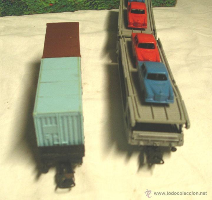 Trenes Escala: Lote Tren Lima Máquina SNCF 62001, 2 Vagones mercancías coches y contenedores y Túnel, escala H0 - Foto 10 - 45702312