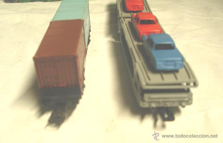 Trenes Escala: Lote Tren Lima Máquina SNCF 62001, 2 Vagones mercancías coches y contenedores y Túnel, escala H0 - Foto 11 - 45702312