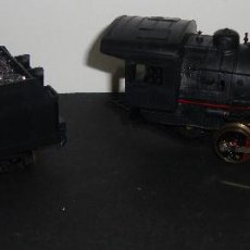 Trenes Escala: (TC-13) LOCOMOTORA Y VAGON CARBON LIMA ESCALA HO. Lote 64339215