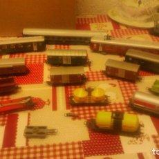 Trenes Escala: GRAN LOTE DE VAGONES DE TREN LIMA MADE IN ITALZ,TODOS ORIGINALES.PASAGEROS Y MERCANCIAS,ESSO, SHELL. Lote 65038587