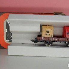 Trenes Escala: LIMA H0 - VAGÓN PLATAFORMA CON GARITA PARA CONTENEDORES - P660 513 - AGFA / MERCEDES - CAJA ORIGINAL. Lote 67523765