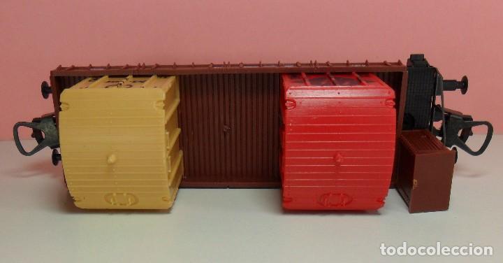 Trenes Escala: LIMA H0 - Vagón plataforma con garita para contenedores - P660 513 - AGFA / MERCEDES - Caja original - Foto 7 - 67523765