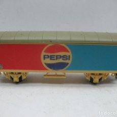 Trenes Escala: LIMA - VAGÓN DE MERCANCÍAS CERRADO PEPSI PPS 3524-8Y - ESCALA H0. Lote 68192877