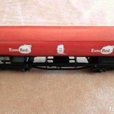 Trenes Escala: VAGON DE CARGA CISTERNA ESSO RED, LIMA - ITALY, MEDIDAS 21 X 5,5 X 3,5 CM. Lote 71778627
