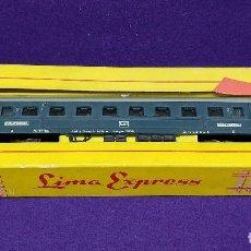 Trenes Escala: ANTIGUO VAGON DE LOCOMOTORA. LIMA EXPRESS 9103. DE PASAJEROS. CAJA ORIGINAL. STUTTGART- HOF. VAGON 2. Lote 86725644