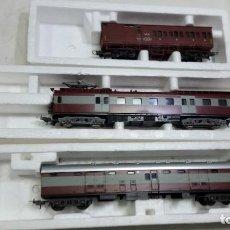 Trenes Escala: LIMA MAQUINA Y DOS VAGONES HO H0 MUY NUEVOS. Lote 115231755