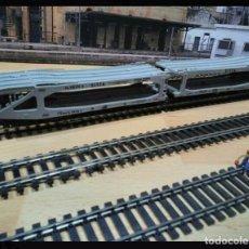 Trenes Escala: LIMA H0 VAGÓN DOBLE PORTA VEHÍCULOS. Lote 103630230