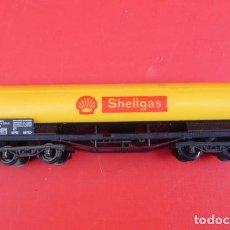 Trenes Escala: VAGON DE COMBUSTIBLE SHELL..ESCALA HO..FABRICADO POR LIMA, ITALIA.. Lote 103441063