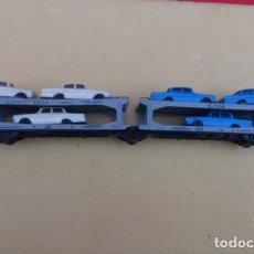 Trenes Escala: VAGON DE CARGA PARA AUTOMOVILES, CON 6 MERCEDES, ESCALA HO..LIMA ITALIA..DESCRIPCION.. Lote 103441583
