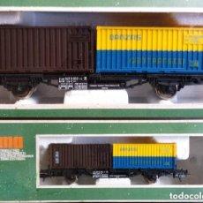Trenes Escala: VAGON TREN MERCANCÍAS LIMA H0 - CNC DANZAS GENTRANSCO EN CAJA ORIGINAL. Lote 103675451