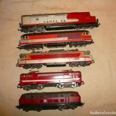 Trenes Escala: CINCO MAQUINAS LIMA H0 Y DOS RAILWAY MODELLER 1994. Lote 116735927