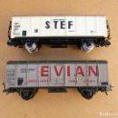Trenes Escala: LIMA / JOUEF DOS VAGONES CERRADOS STEF Y EVIAN . Lote 119407499