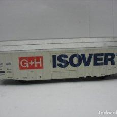 Trenes Escala: LIMA - VAGÓN DE MERCANCÍAS CERRADO G+H ISOVER - ESCALA H0. Lote 128414263