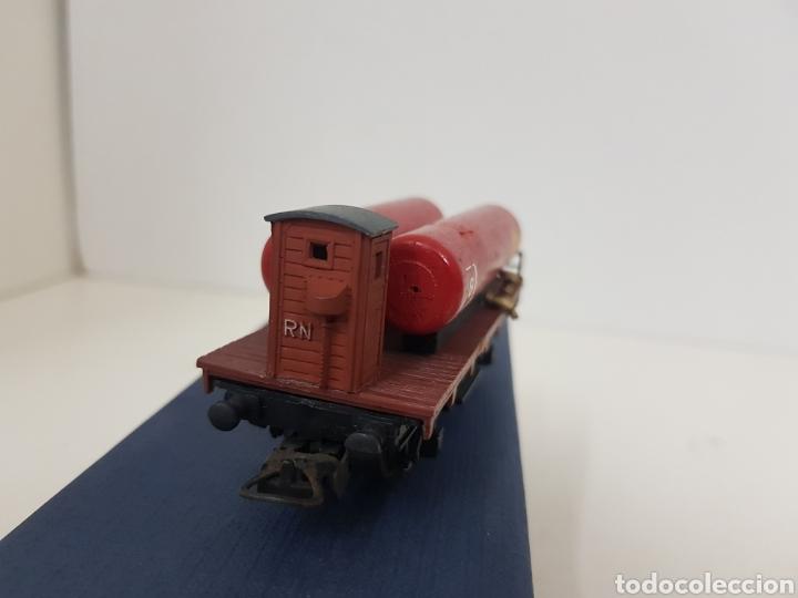 Trenes Escala: RENFE vagón de mercancías Lima escala H0 Shell 8 con doble cisterna de 9 cm con enganche roto - Foto 3 - 134183151