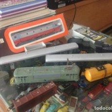 Trenes Escala: LOTE LIMA 3 MAQUINAS 5 VAGONES , VIAS, TRANSFOMADOR UNA MAQUINA EN CAJA ORIGINAL VER FOTOS. Lote 138113642