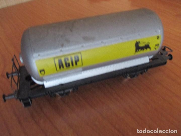 Trenes Escala: VAGON DE TREN CISTERNA LIMA H0 AGIP - Foto 2 - 144349894