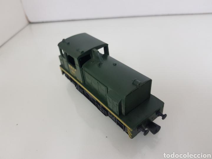 Trenes Escala: Locomotora de carga Lima de la SNCF francesa 501 verde y amarilla de 10,5 cm sin luz - Foto 3 - 146382056