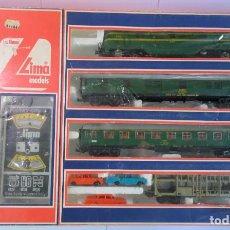 Trenes Escala: ANTIGUO TREN RENFE LIMA ESCALA HO EN CAJA ORIGINAL , VER FOTOS. Lote 148043594