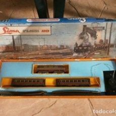 Trenes Escala: TREN ELECTRICO LIMA HO 2801 (AÑOS 60) TRENI ELETTRICI IN MINIATURA MADE IN ITALY - VICENZA –BATERIA. Lote 150144742
