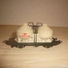 """Trenes Escala: VAGON 2 CISTERNAS """"COMPAGNIE NOUVELLE DES CADRES""""Y TRES VIAS RECTAS 222 MM. Lote 151252142"""