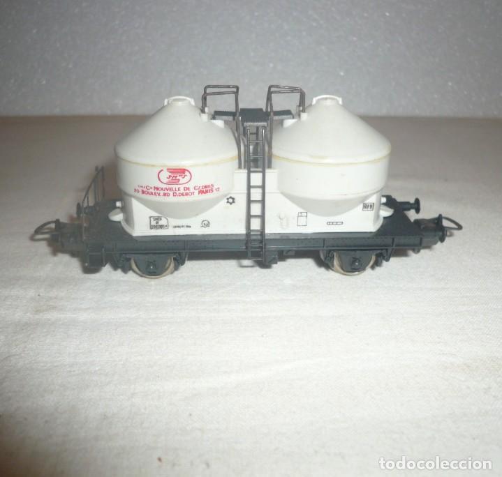 """Trenes Escala: VAGON 2 CISTERNAS """"Compagnie Nouvelle des Cadres""""Y TRES VIAS RECTAS 222 MM - Foto 7 - 151252142"""