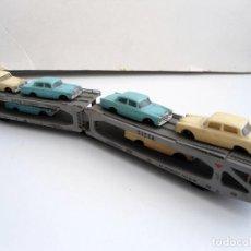 Trenes Escala: LIMA - VAGON TRANSPORTE S.I.T.F.A. DE COCHES CON 6 MERCEDES ANTIGUOS 1973 - REF. 9050. Lote 152829110